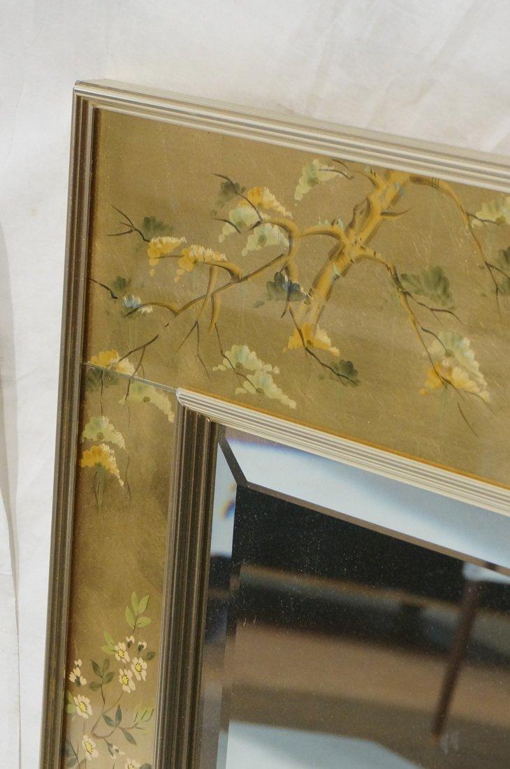 LA BARGE Eglomise Framed Mirror. Asian design wit - 5
