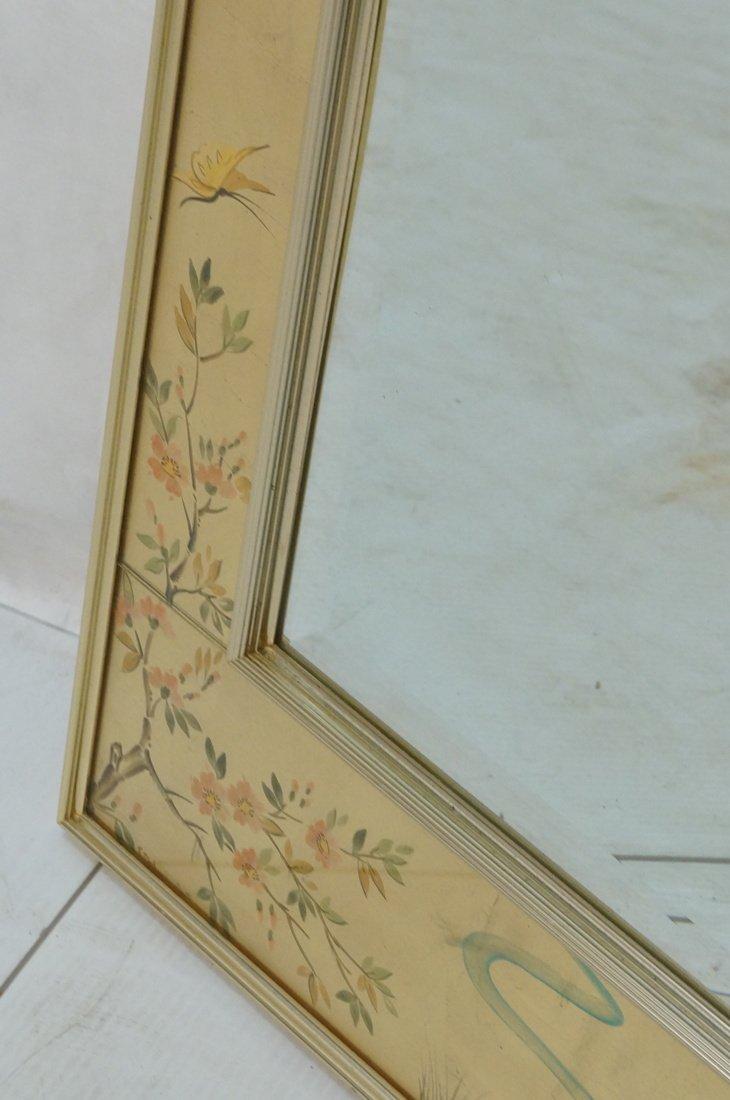 LA BARGE Eglomise Framed Mirror. Asian design wit - 6