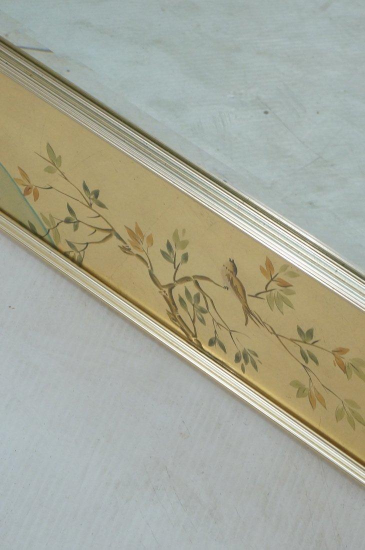 LA BARGE Eglomise Framed Mirror. Asian design wit - 7