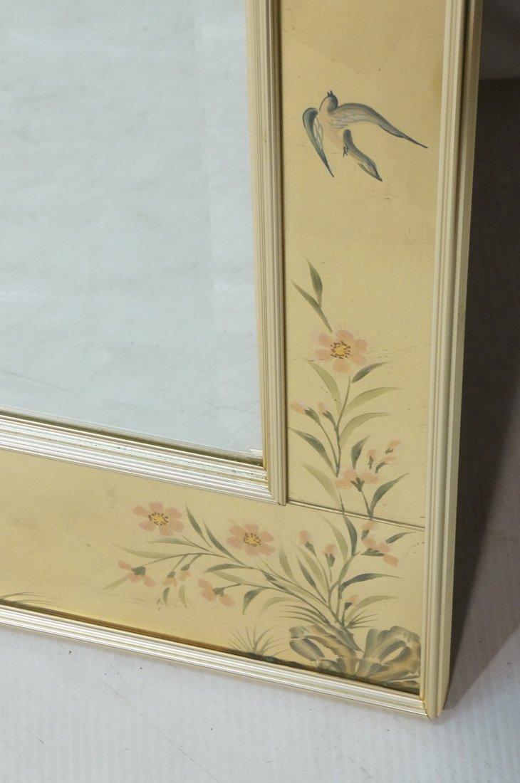 LA BARGE Eglomise Framed Mirror. Asian design wit - 8