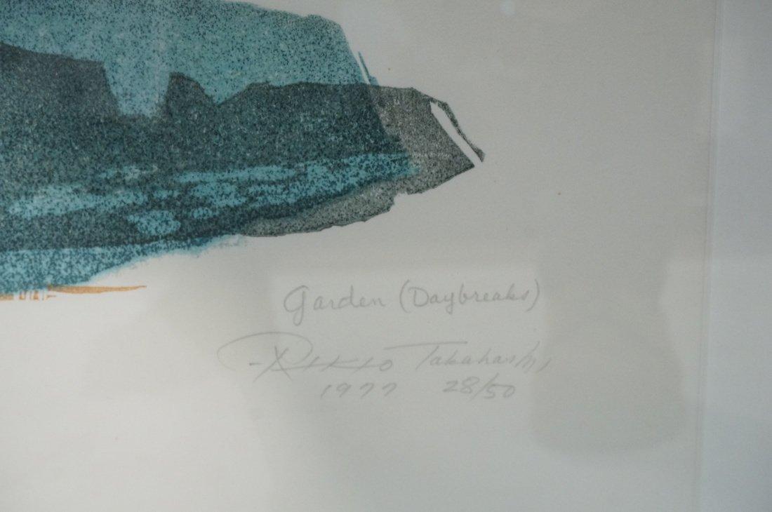 "Signed Takahashi Print. ""Garden Daybreaks"" Signed - 2"