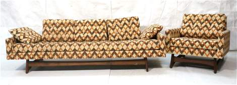 Modernist ADRIAN PEARSALL Sofa & Lounge Chair. Lo