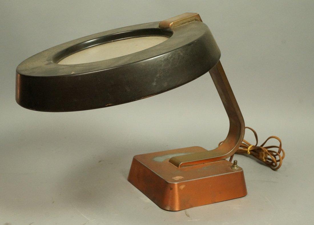 Art Deco Copper Finish Desk Lamp. Copper finish b