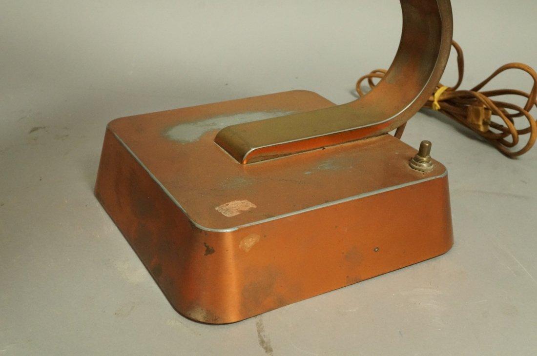 Art Deco Copper Finish Desk Lamp. Copper finish b - 2