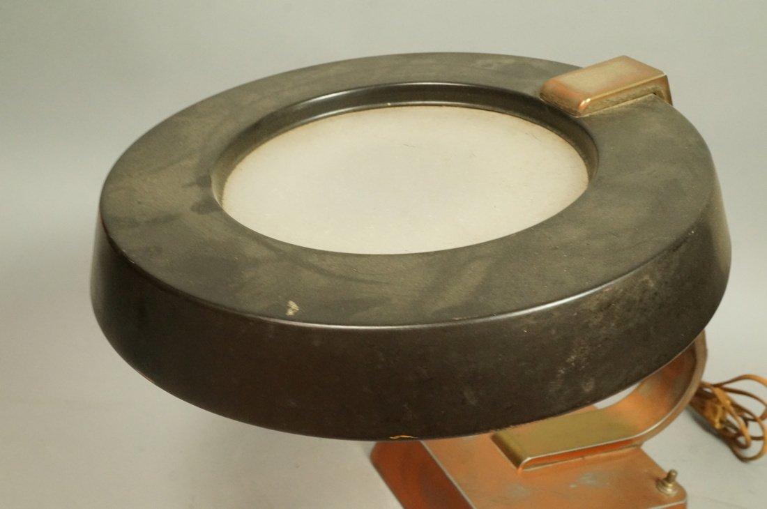 Art Deco Copper Finish Desk Lamp. Copper finish b - 4