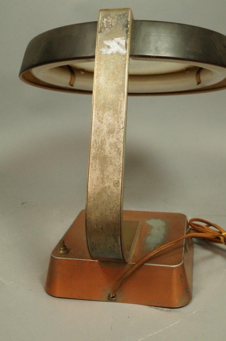 Art Deco Copper Finish Desk Lamp. Copper finish b - 6