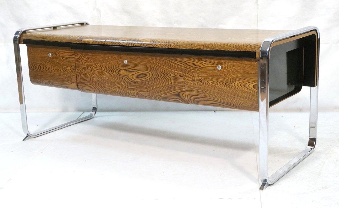 HERMAN MILLER Three Drawer Credenza. Zebra Wood.
