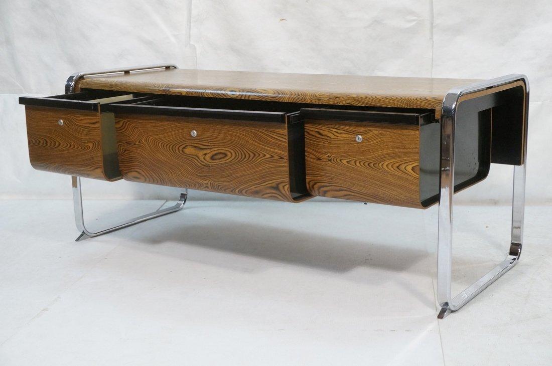 HERMAN MILLER Three Drawer Credenza. Zebra Wood. - 2