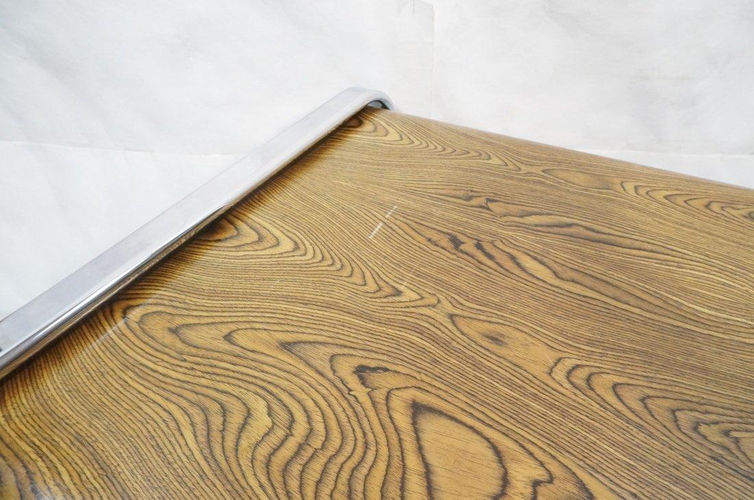 HERMAN MILLER Three Drawer Credenza. Zebra Wood. - 4