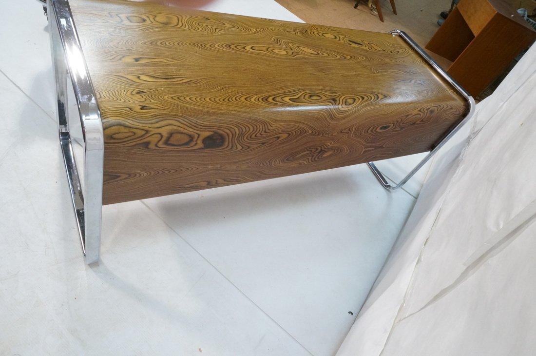 HERMAN MILLER Three Drawer Credenza. Zebra Wood. - 5
