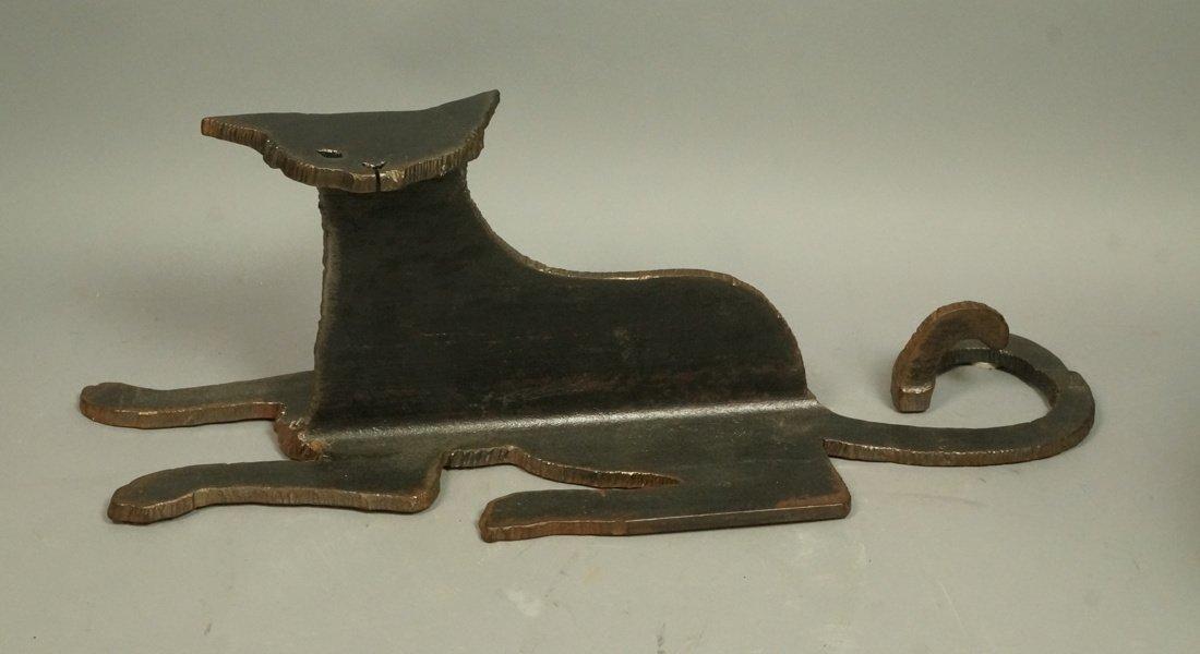 Industrial Iron Cat Sculpture. Marked A.L. WILSON