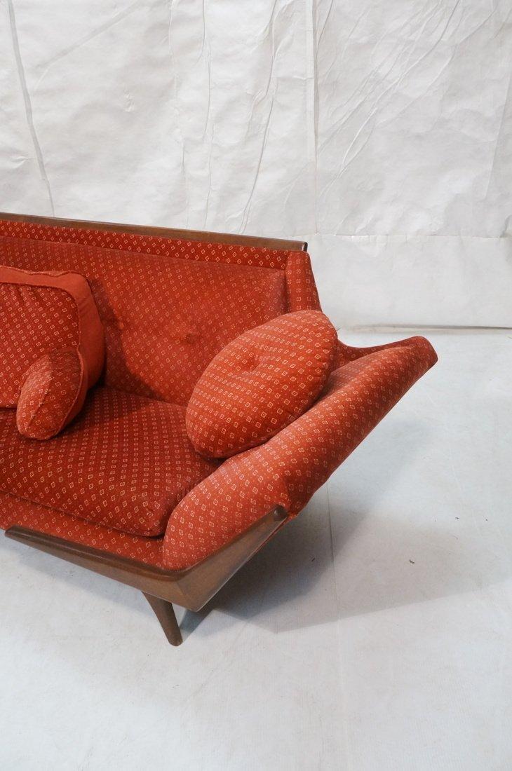 ADRIAN PEARSALL Long Walnut Sofa Couch. Walnut tr - 2