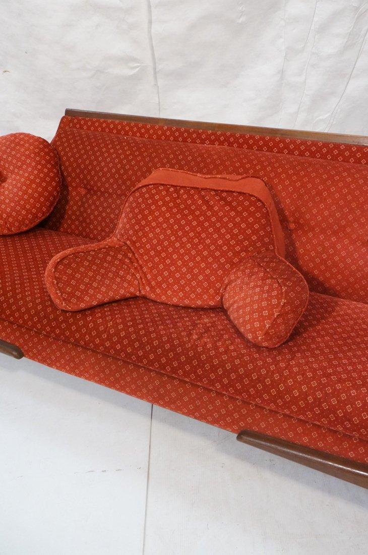 ADRIAN PEARSALL Long Walnut Sofa Couch. Walnut tr - 3