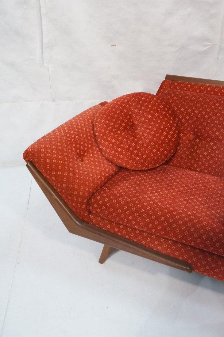 ADRIAN PEARSALL Long Walnut Sofa Couch. Walnut tr - 4