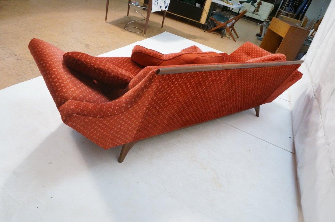 ADRIAN PEARSALL Long Walnut Sofa Couch. Walnut tr - 6