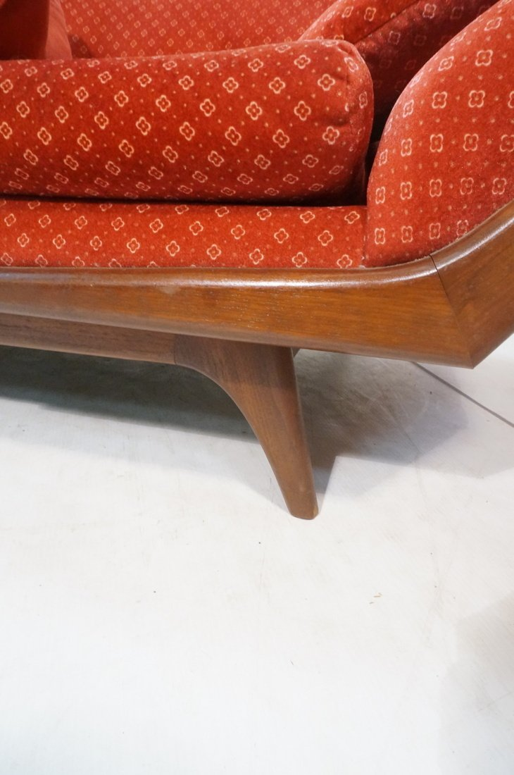 ADRIAN PEARSALL Long Walnut Sofa Couch. Walnut tr - 9