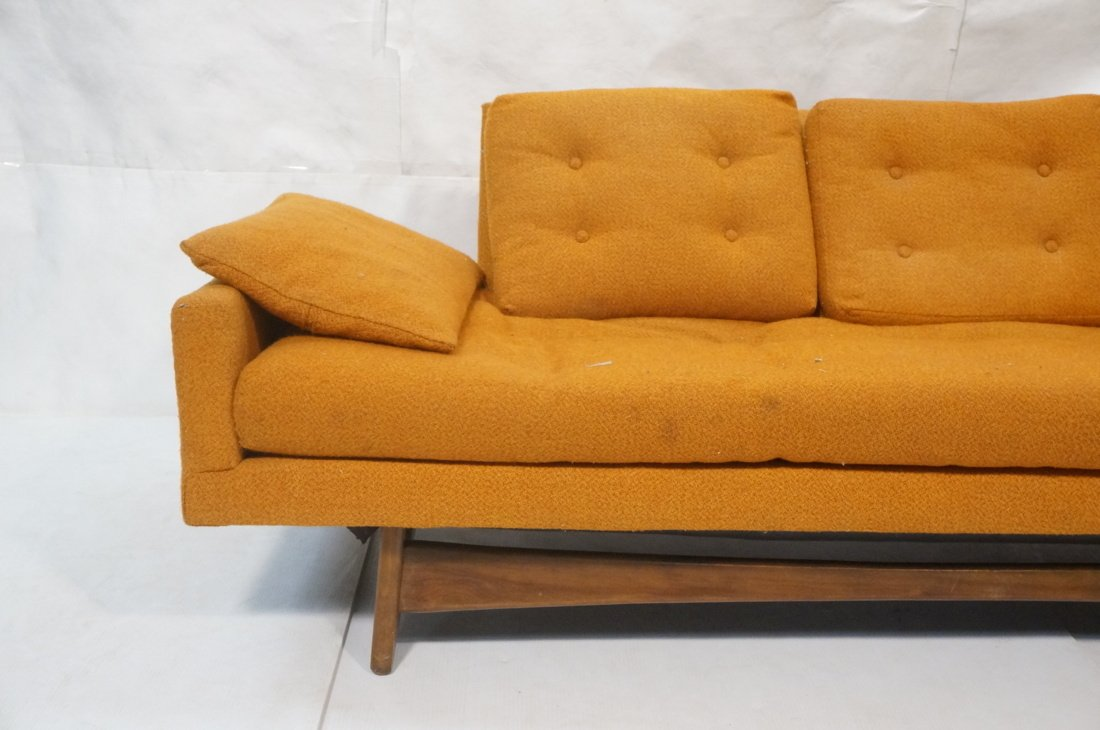 Orange ADRIAN PEARSALL Style Modernist Sofa Couch - 2
