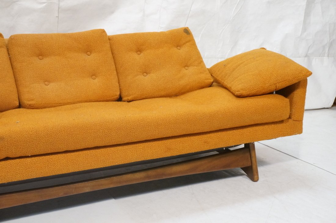Orange ADRIAN PEARSALL Style Modernist Sofa Couch - 3