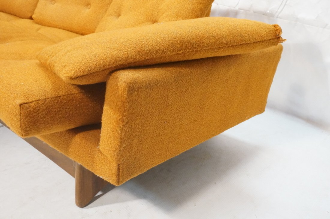 Orange ADRIAN PEARSALL Style Modernist Sofa Couch - 6