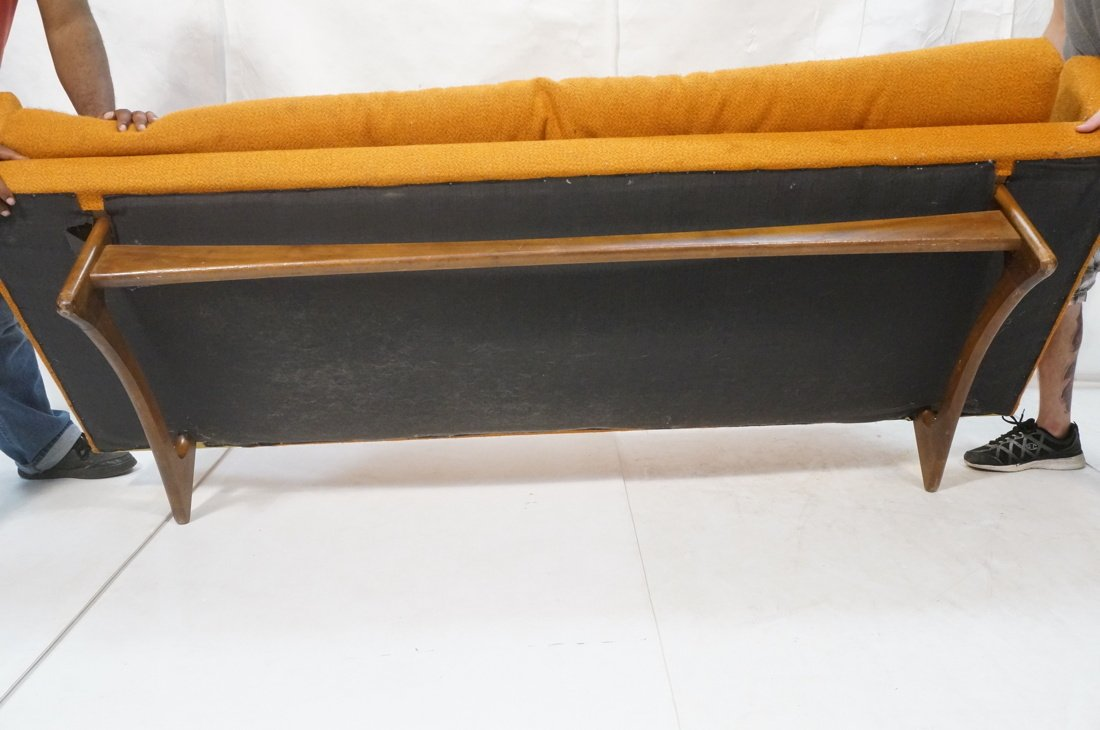 Orange ADRIAN PEARSALL Style Modernist Sofa Couch - 9