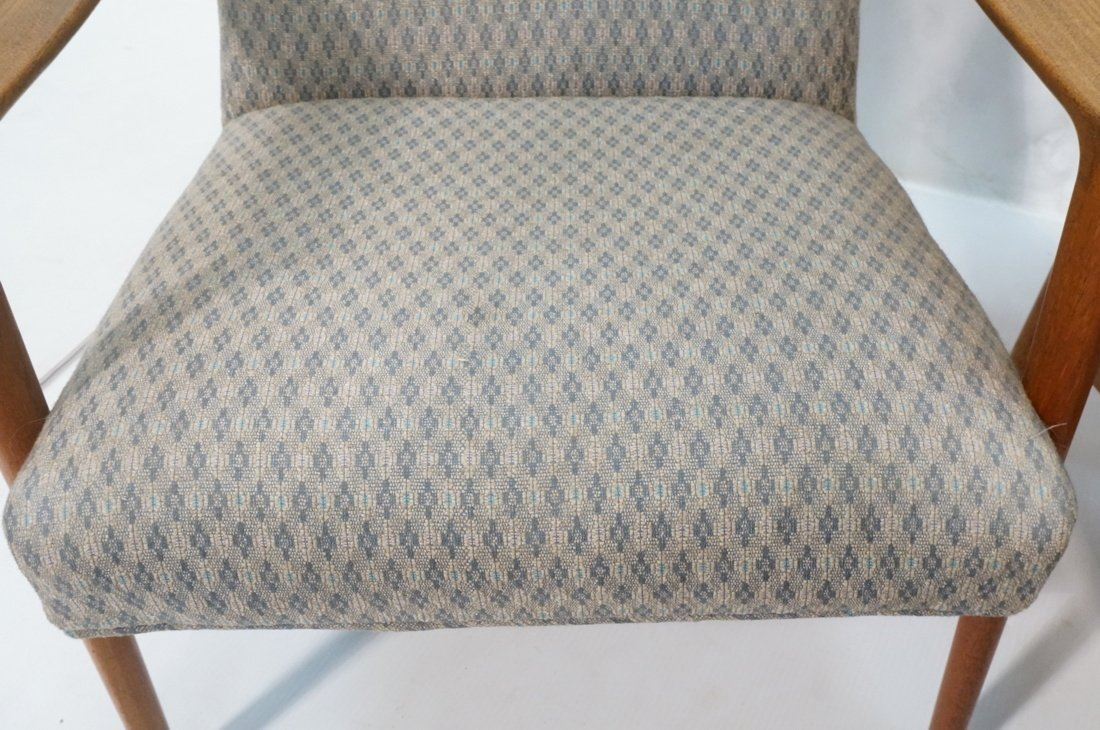 Pr Danish Teak Bowed Paddle Arm Lounge Chairs. Hi - 6