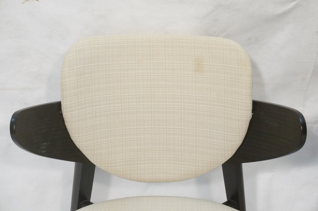 Pr Ebonized Side Arm Chairs. Laminated wood curve - 2
