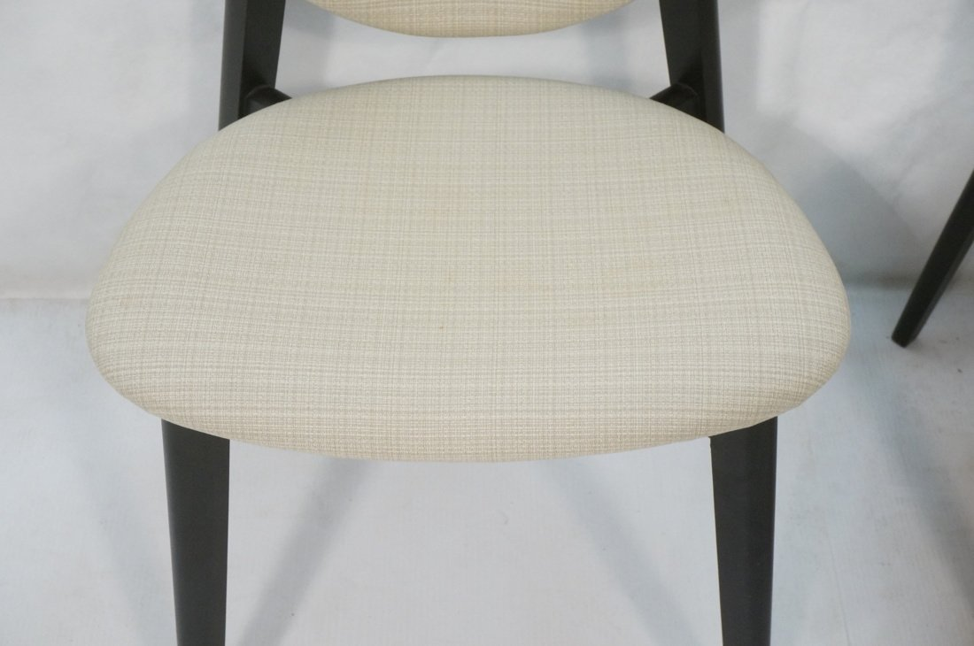 Pr Ebonized Side Arm Chairs. Laminated wood curve - 3