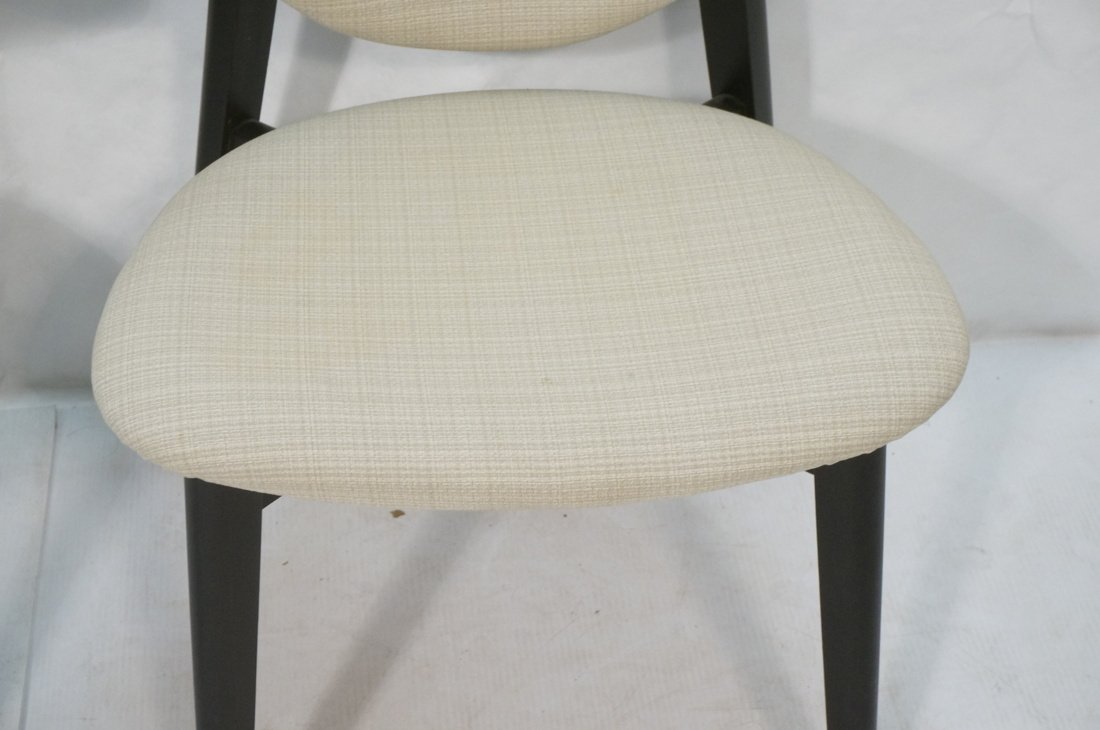 Pr Ebonized Side Arm Chairs. Laminated wood curve - 4