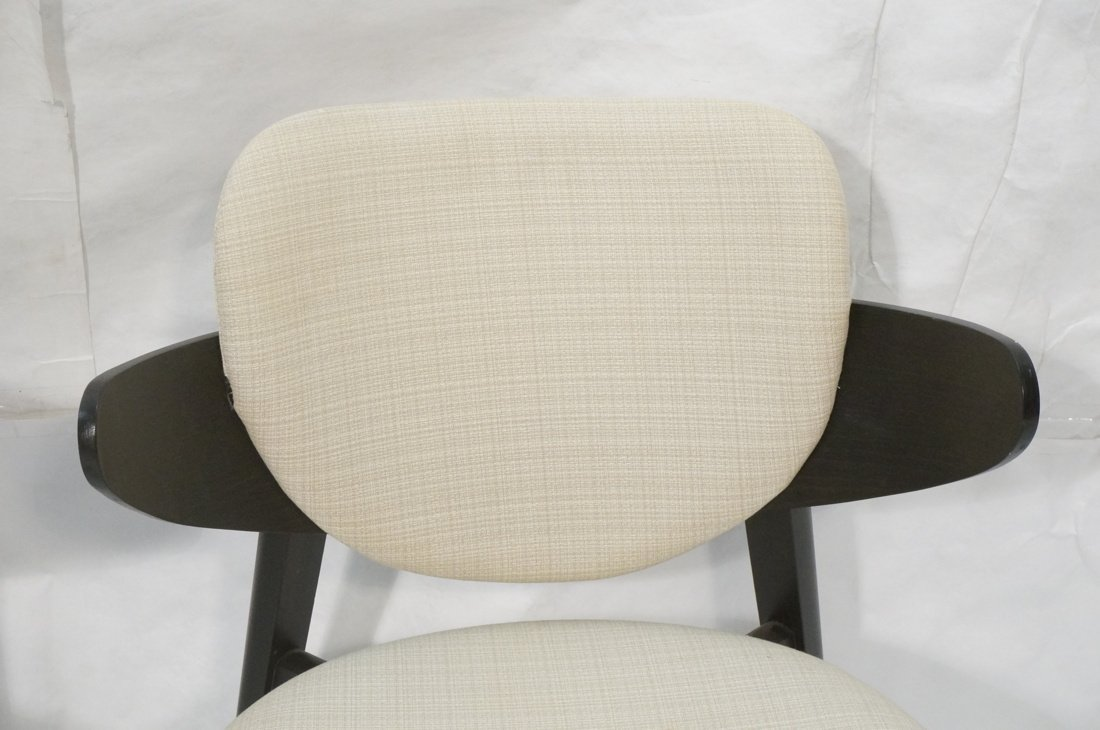 Pr Ebonized Side Arm Chairs. Laminated wood curve - 5