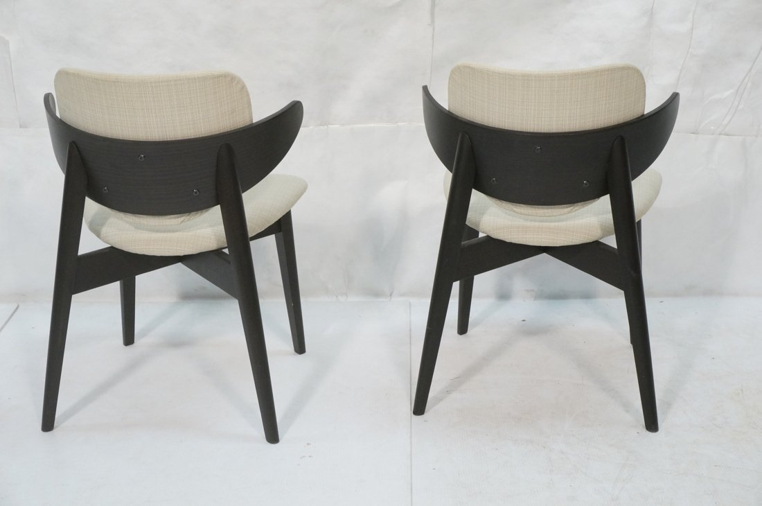 Pr Ebonized Side Arm Chairs. Laminated wood curve - 7