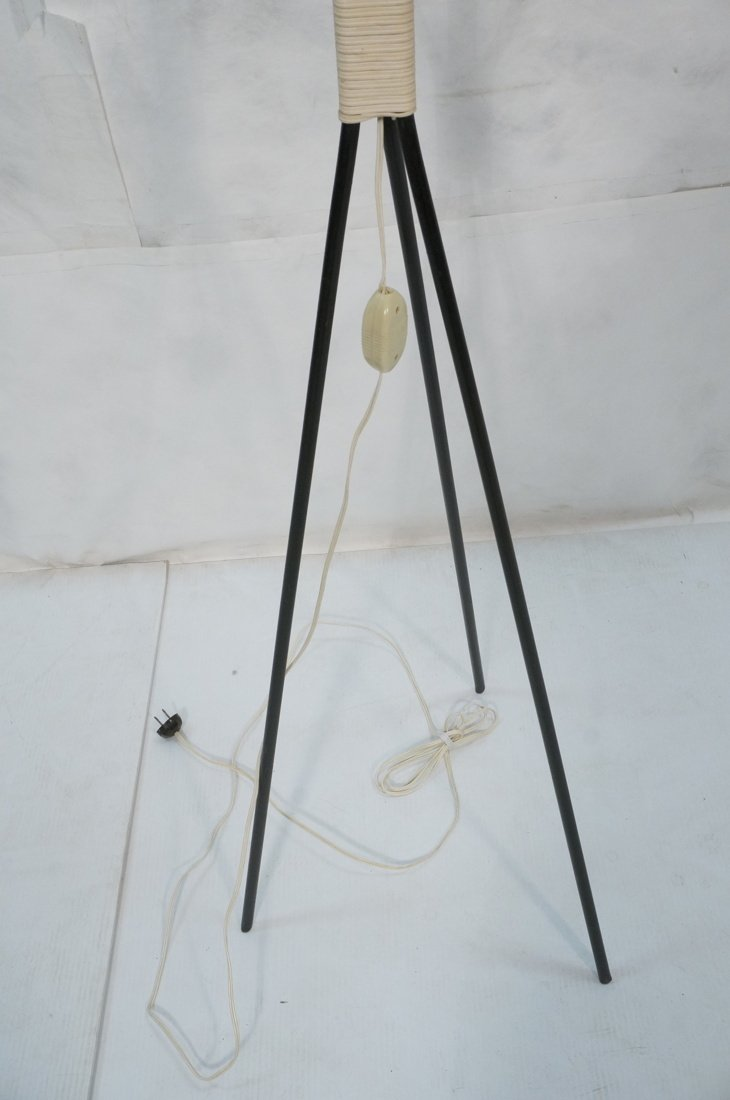 Modernist Three legged Black Iron Floor Lamp. Wov - 3