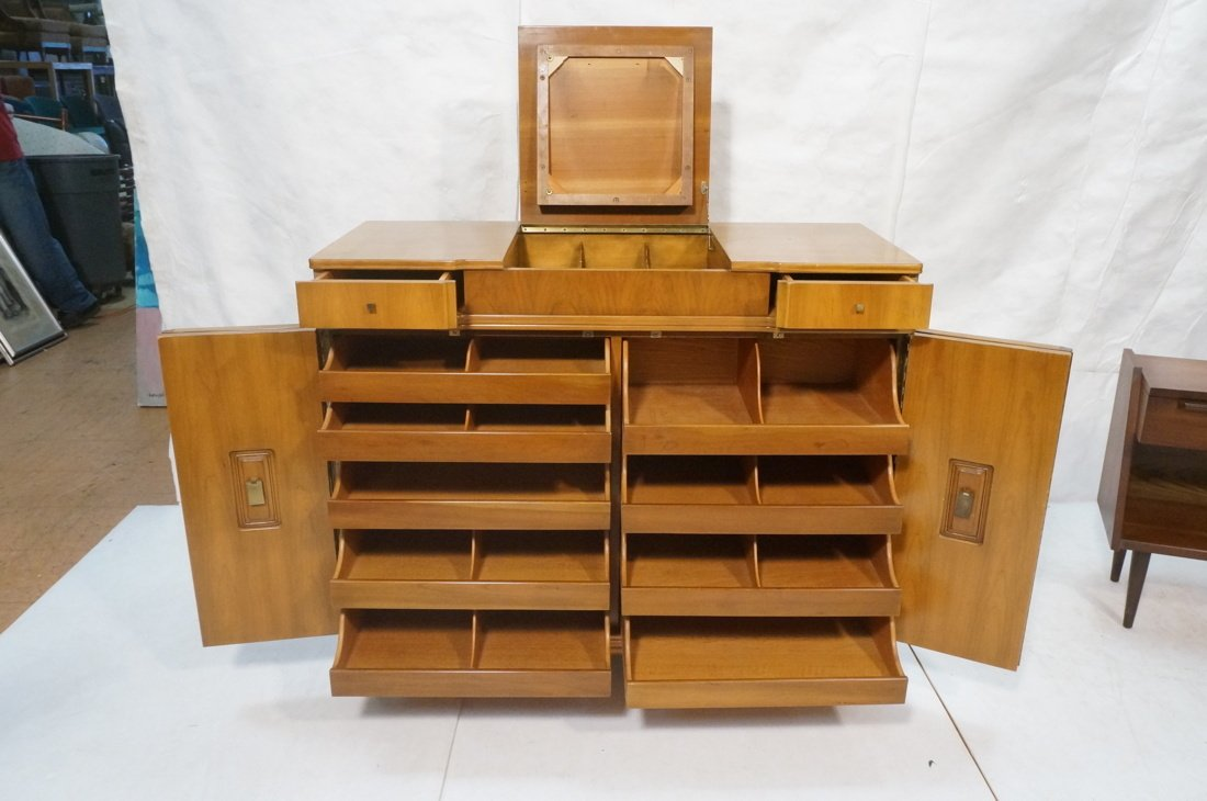 JOHN WIDDICOMB. Dresser with pop up Vanity Top. F - 2