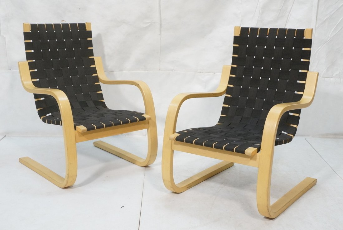 Pr ALVAR AALTO for ARTEK ICF Lounge Chairs. Lamin