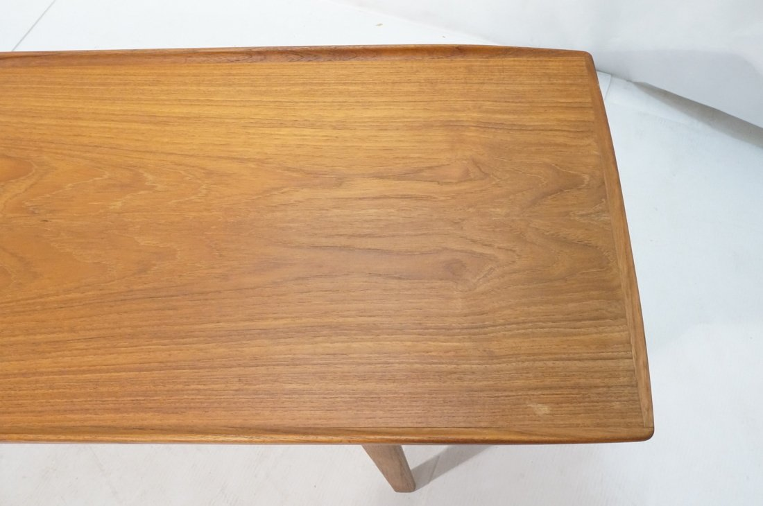 Danish Modern Teak Coffee Cocktail Table. Raised - 5