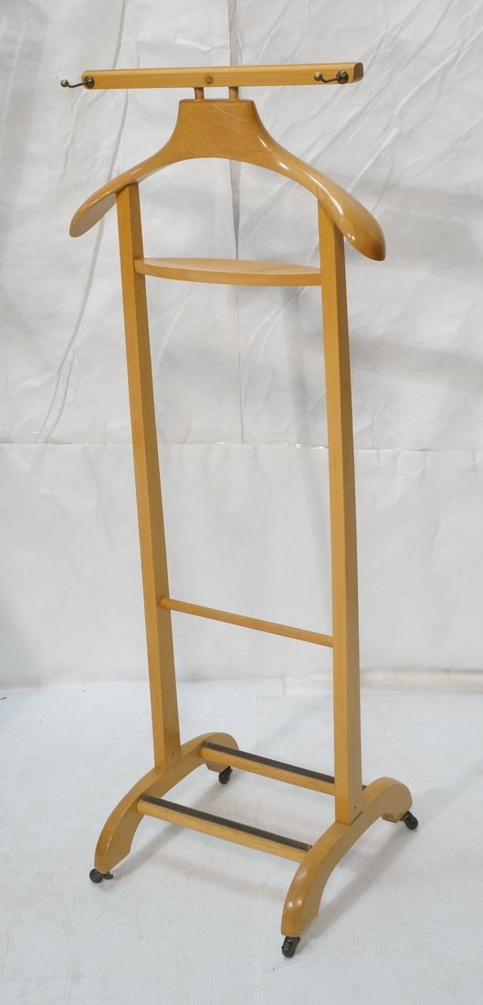 Modernist Blond Wood Valet. Italian