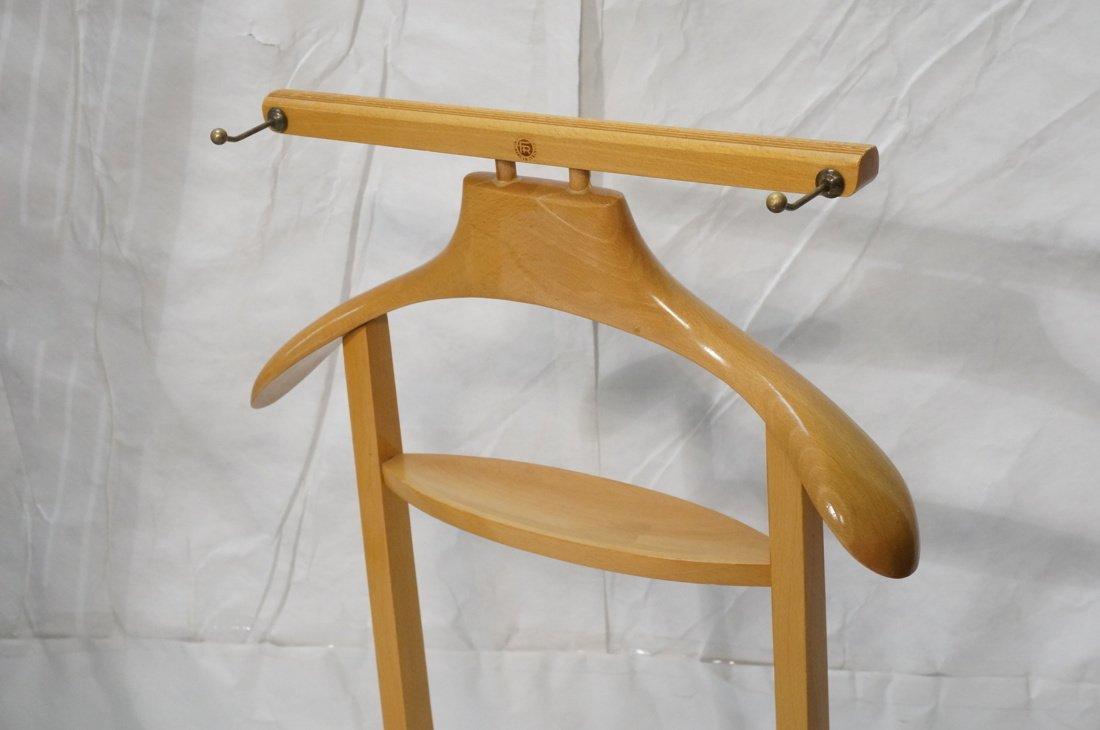 Modernist Blond Wood Valet. Italian - 2