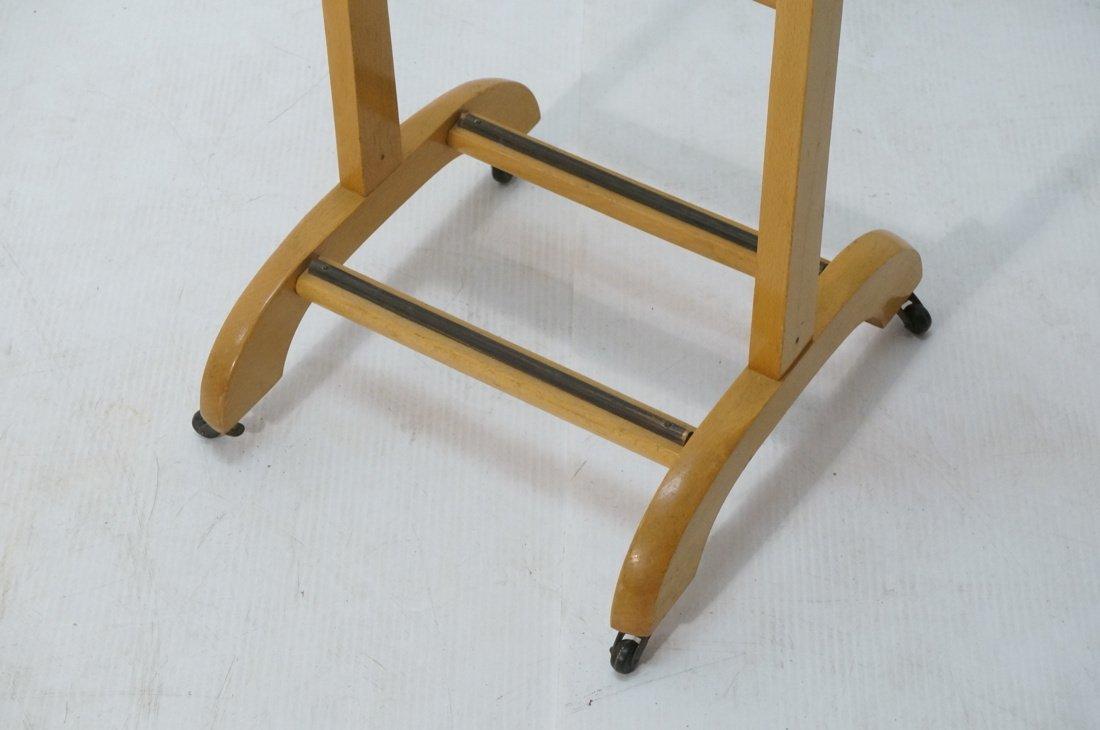 Modernist Blond Wood Valet. Italian - 3