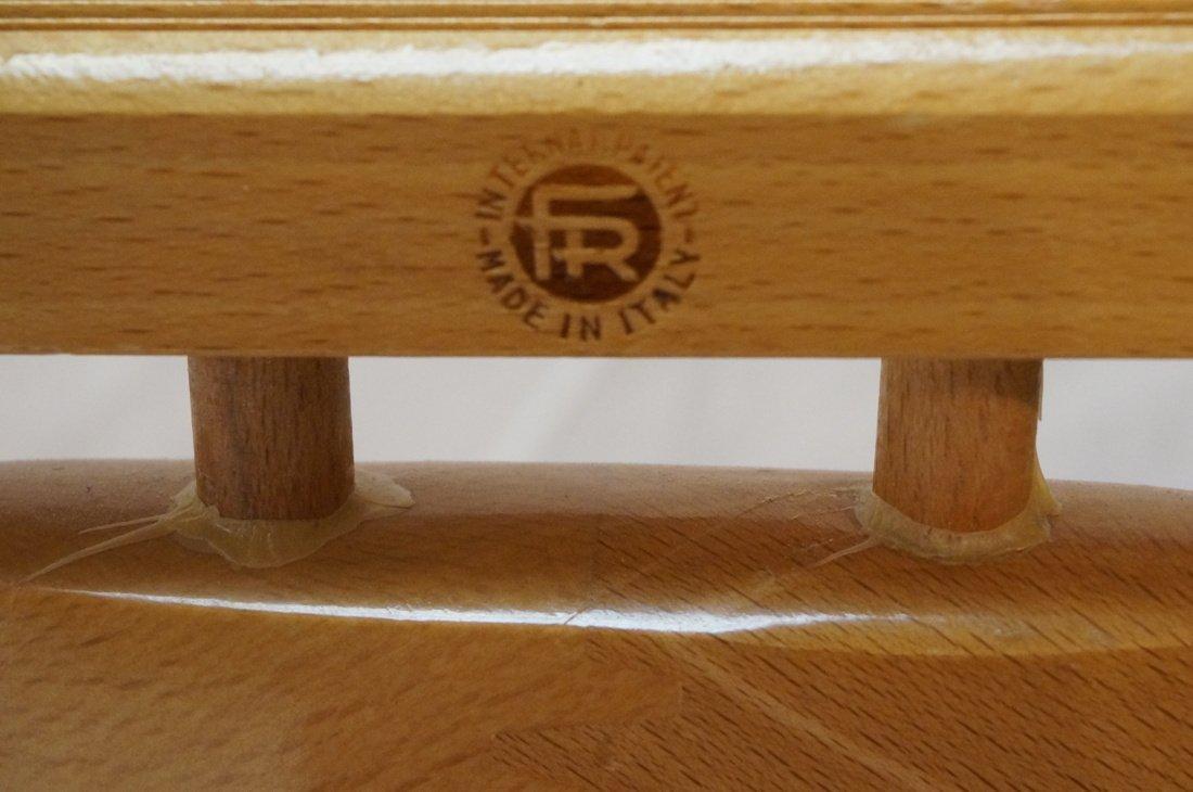 Modernist Blond Wood Valet. Italian - 4