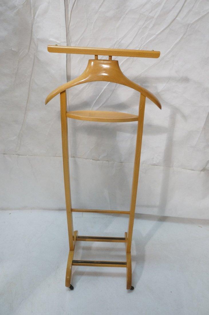Modernist Blond Wood Valet. Italian - 5
