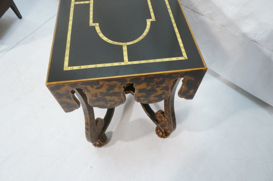 Faux Finish Tortoise painted Side Table. Art Deco - 5