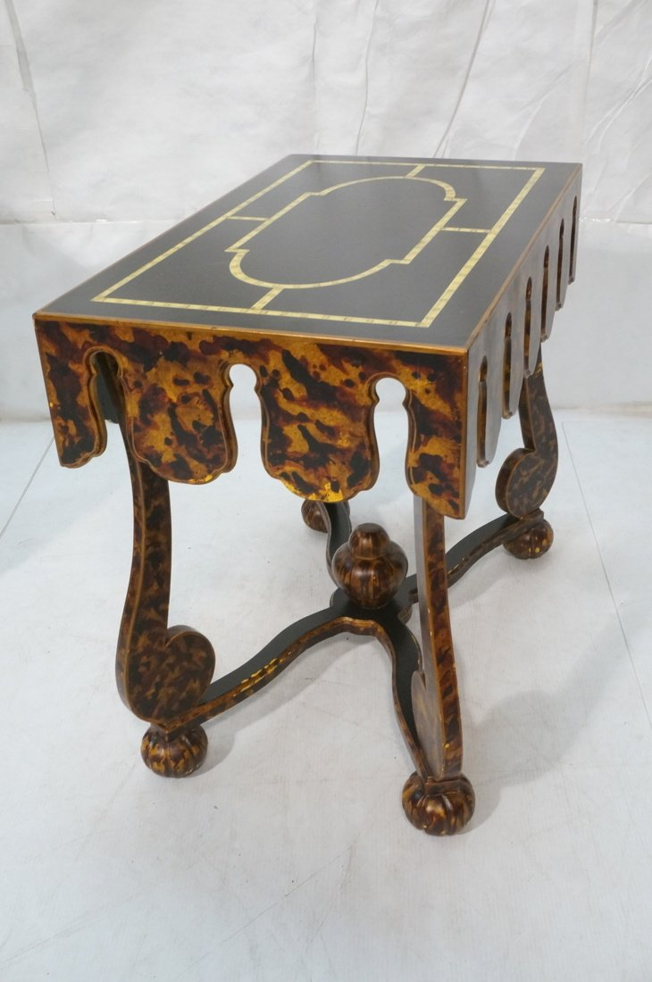 Faux Finish Tortoise painted Side Table. Art Deco - 7
