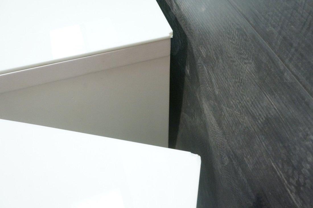 3pc Bedroom Set. Art Deco style set painted white - 4