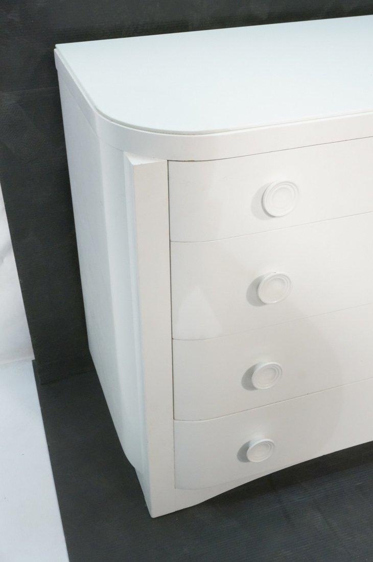 3pc Bedroom Set. Art Deco style set painted white - 5
