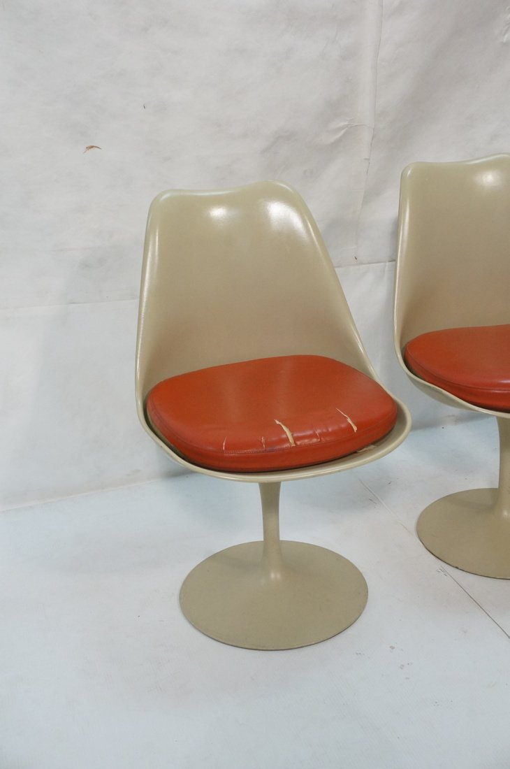 Set 4 KNOLL Eero SAARINEN Tulip Dining Chairs. Al - 2