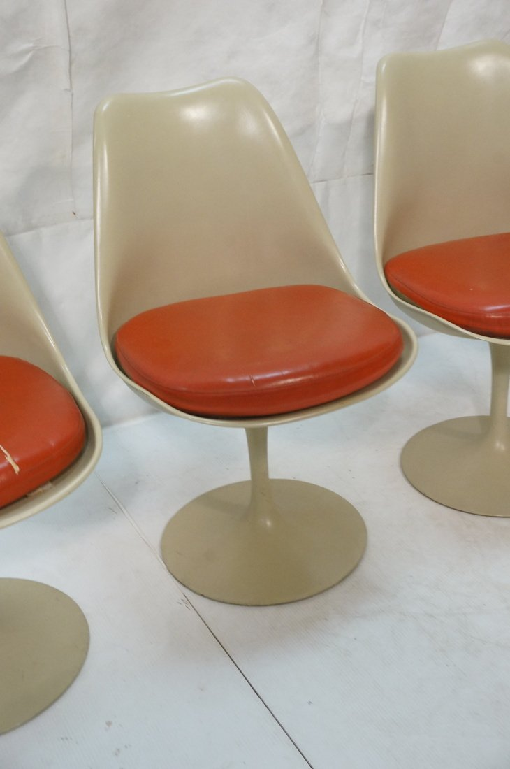 Set 4 KNOLL Eero SAARINEN Tulip Dining Chairs. Al - 3