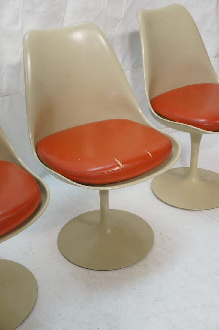 Set 4 KNOLL Eero SAARINEN Tulip Dining Chairs. Al - 4