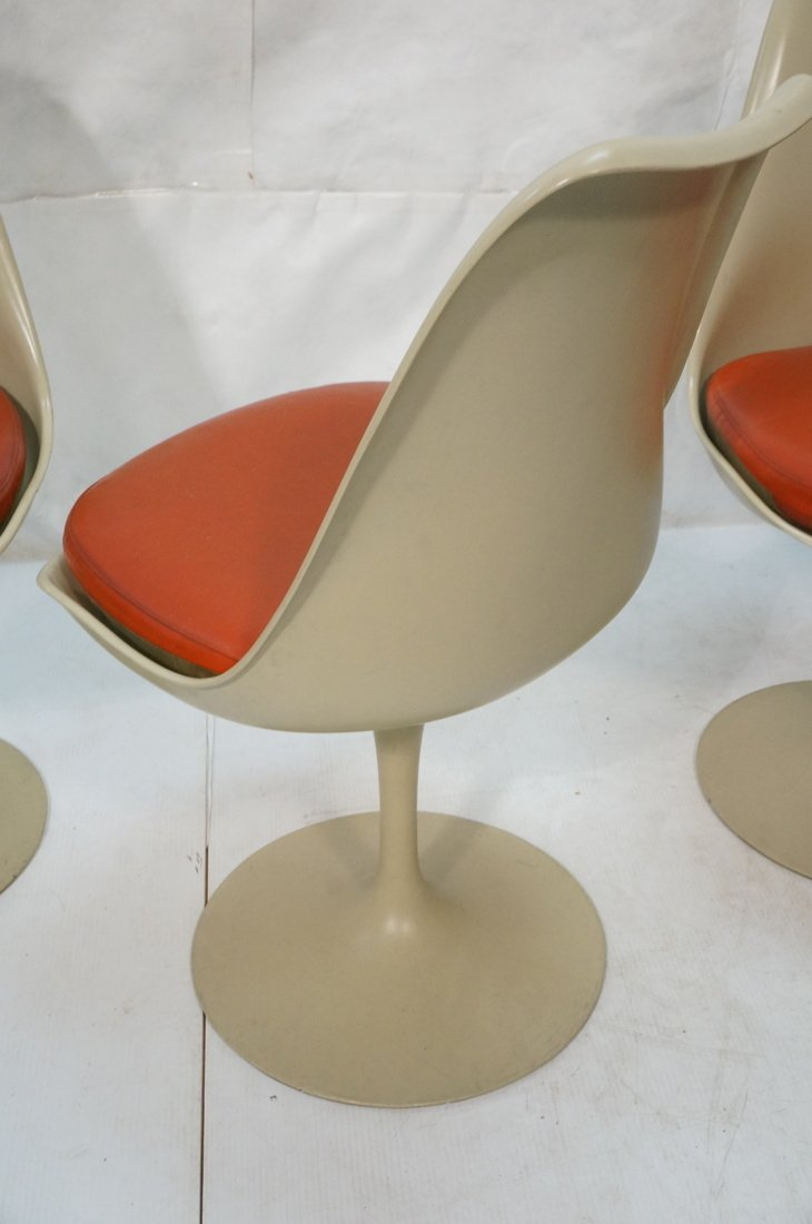 Set 4 KNOLL Eero SAARINEN Tulip Dining Chairs. Al - 9