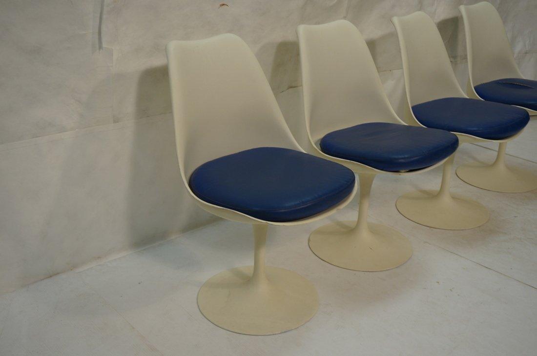Set 4 KNOLL Eero SAARINEN Tulip Dining Chairs. Wh - 2