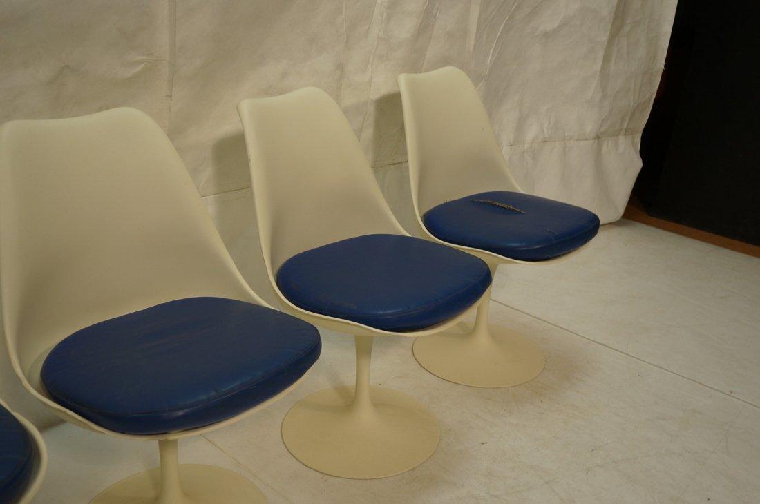 Set 4 KNOLL Eero SAARINEN Tulip Dining Chairs. Wh - 3