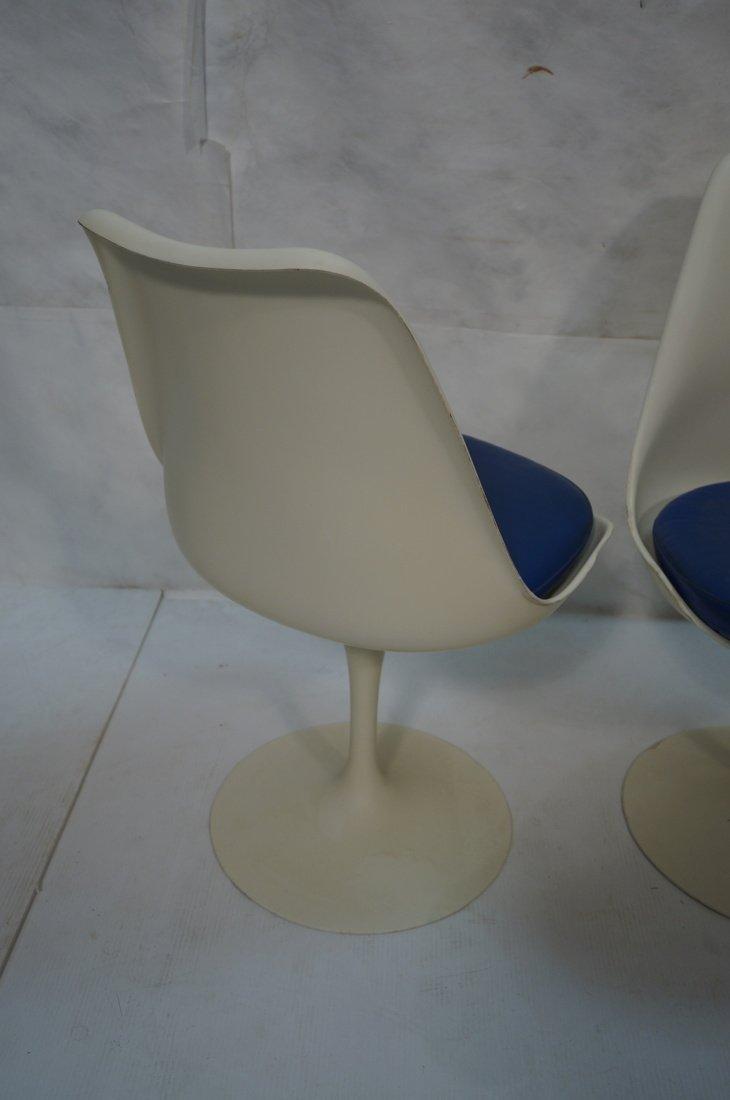 Set 4 KNOLL Eero SAARINEN Tulip Dining Chairs. Wh - 4